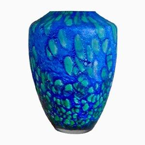 Vintage Glass Paste Vase from Passavant La Rochère