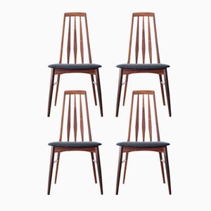 Vintage Eva Chairs in Rio Rosewood by Niels Koefoed, Set of 4