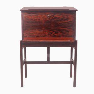 rosewood desk by henry rosengren hansen for brande mbelindustri 1950s - Herman Miller Umhllen Schreibtisch