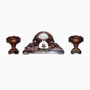 Reloj de péndulo Art Déco de Van De Voorde, años 20