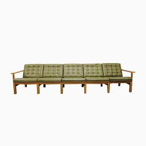 Vintage Modular Sofa in Oak by Ole Gjerløv-Knudsen & Torben Lind for France & Son