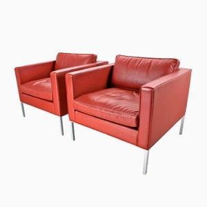 Vintage C905 Sessel aus Rotem Leder von Kho Liang Ie für Artifort, 2er Set