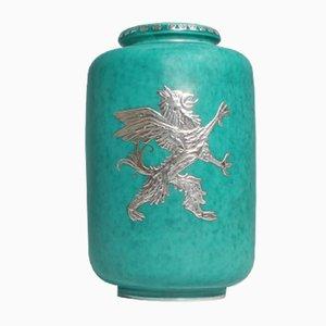 Vintage Argenta Vase in Stoneware by Willhelm Kåge for Gustavberg