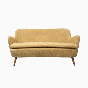 Cocktail Sofa in Gelb, 1950er