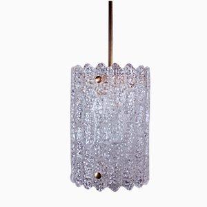 Moderne Schwedische Kristallglas Hängelampe von Carl Fagerlund für Orrefors, 1960er