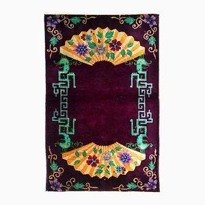 Handgemachter Antiker Chinesischer Art Deco Teppich, 1920er