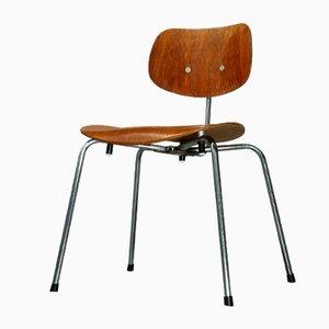 Stapelbarer Vintage SE 68 SU Teak Stuhl von Egon Eiermann für Wilde & Spieth