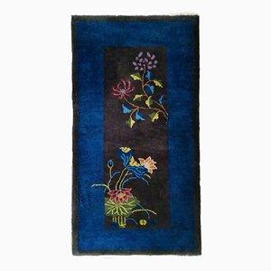 Floraler Handgemachter Chinesischer Art DecoTeppich, 1920er