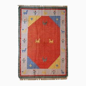 Vintage Handmade Persian Gabbeh Kilim, 1960s