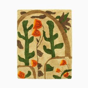 Arazzo grande con paesaggio floreale, anni '60