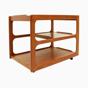 Danish Extendable Teak Serving Trolley from Sika Møbler, 1960s
