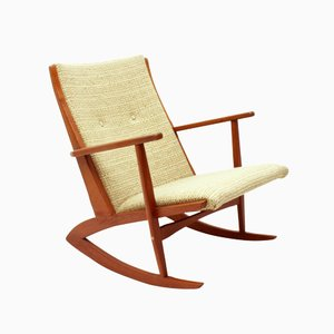 Danish 97 Rocking Chair in Solid Teak by Søren Georg Jensen for Tønder Møbelværk, 1958