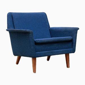 Mid-Century Danish Blue Armchair by Folke Ohlsson for Fritz Hansen, 1960s