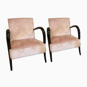 Italienische Art Deco Palisander Sessel, 1930er, 2er Set