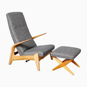 Rock'n Rest Chair & Ottoman by Rolf Rastad & Adolf Relling for Arnestad Bruk, 1950s