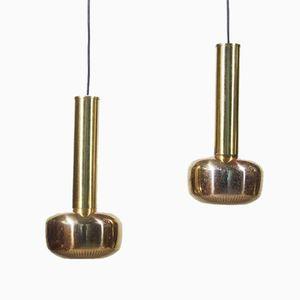 Brass Pendants, 1960s, Set of 2