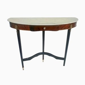Table Console en Acajou, Italie, 1950s