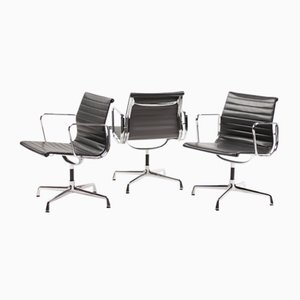 Aluminum Swivel Chairs by Charles & Ray Eames for Vitra, 1989, Set of 3