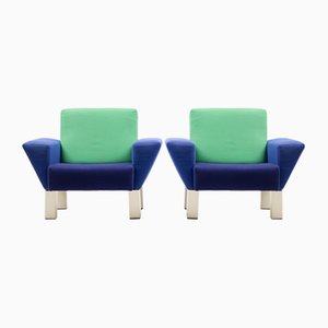 Westside Armchairs by Ettore Sottsass for Knoll International, 1983, Set of 2