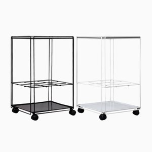 Black and White Isocele Trolleys by Max Sauze, 1970s, Set of 2