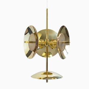 Lampadario Signal 3S+1 in ottone di Shaun Kasperbauer per Souda