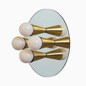 Echo 4 Messing Wandlampe von Shaun Kasperbauer für Souda