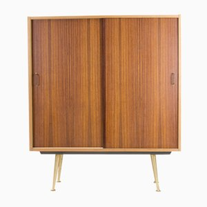 Brass & Rosewood Tall Cabinet, 1950s