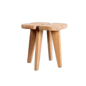 Mid-Century Finnish Pinewood Stool or Sidetable by Lisa Johansson-Pape for Orno, 1960s