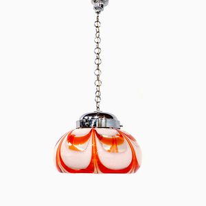 Grande Lampe à Suspension en Verre de Murano par Carlo Nason pour Mazzega, 1960s