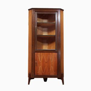 Teak & Glass Corner Cabinet from Everest, 1950s