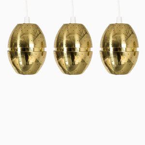 Brass Pendants by Hans-Agne Jakobsson, 1960s, Set of 3