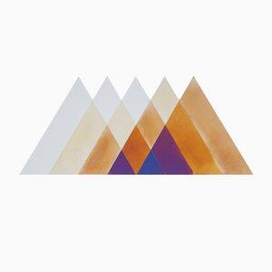 Specchio Transience grande con triangoli di David Derksen & Lex Pott per Transnatural