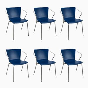 Vicoduo Stacking Chairs by Vico Magistretti for Fritz Hansen, 2000, Set of 6