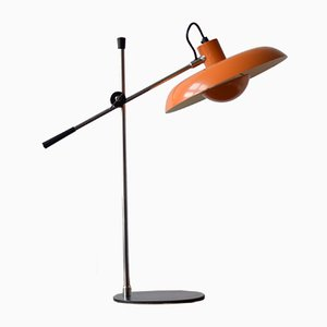 Orange Mid-Century RA-30 Schreibtischlampe von Piet Hein für Lyfa, 1970er