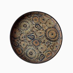 Vintage Danish Large Brown Circular BACA Dish by Nils Thorsson for Royal Copenhagen