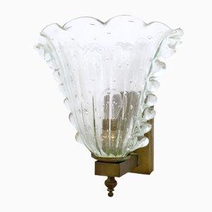 Murano Glas Wandlampe von Ercole Barovier, 1930er