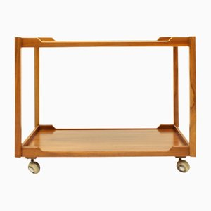 Mid-Century German Walnut Serving Trolley from Wilhelm Renz, 1960s