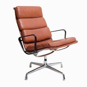 EA216 Leder Sessel von Charles & Ray Eames für Herman Miller, 1960er