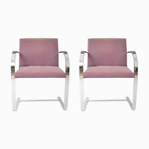 Brno 255 Studio Armchairs by Mies van der Rohe for Knoll, 1970s, Set of 2