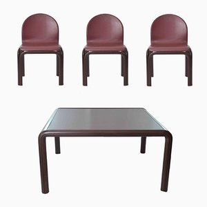 Vintage Table & 4 Chairs by Gae Aulenti for Knoll Inc, 1970s