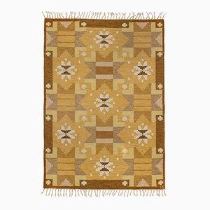 Schwedischer Mid-Century Flachgewebe Teppich von Ingegerd Silow