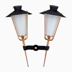 Lanterna doppia Mid-Century di Arlus, Francia, anni '50