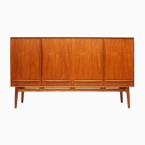 Mid-Century Danish Teak Highboard by Svend Åge Madsen for K. Knudsen & Søn, 1950s