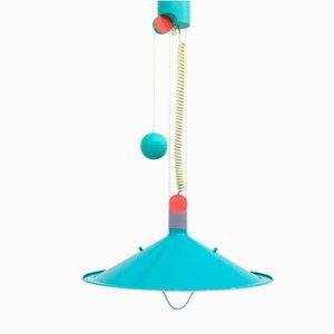 Vintage Blue Ceiling Lamp, 1980s