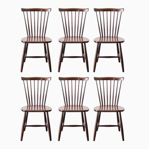 Scandinavian Chairs with Barred Backs from Nässjö, 1967, Set of 6