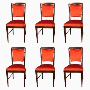 Italian Chairs, 1950s, Set of 6
