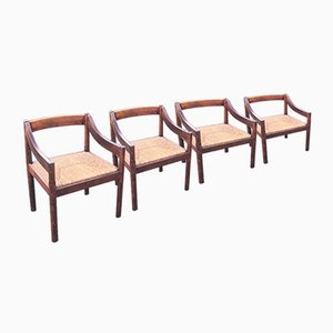 Carimate Dining Chairs by Vico Magistretti for Cassina, 1960s, Set of 4