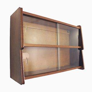 Solid Oak Wall Shelf, 1950s