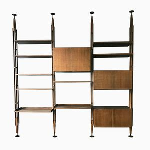 Vintage LB7 Wall Unit by Franco Albini for Poggi
