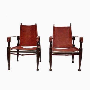 Safari Armchairs by Kaare Klint, 1950s, Set of 2